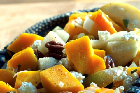 Butternut Squash and Pears with Goat Cheese