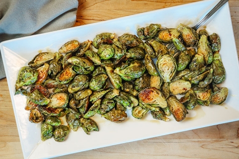Roasted Brussels Sprouts with Honey Dijon Glaze