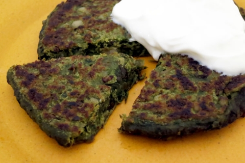 Swiss Chard and Bean Fritters Recipe